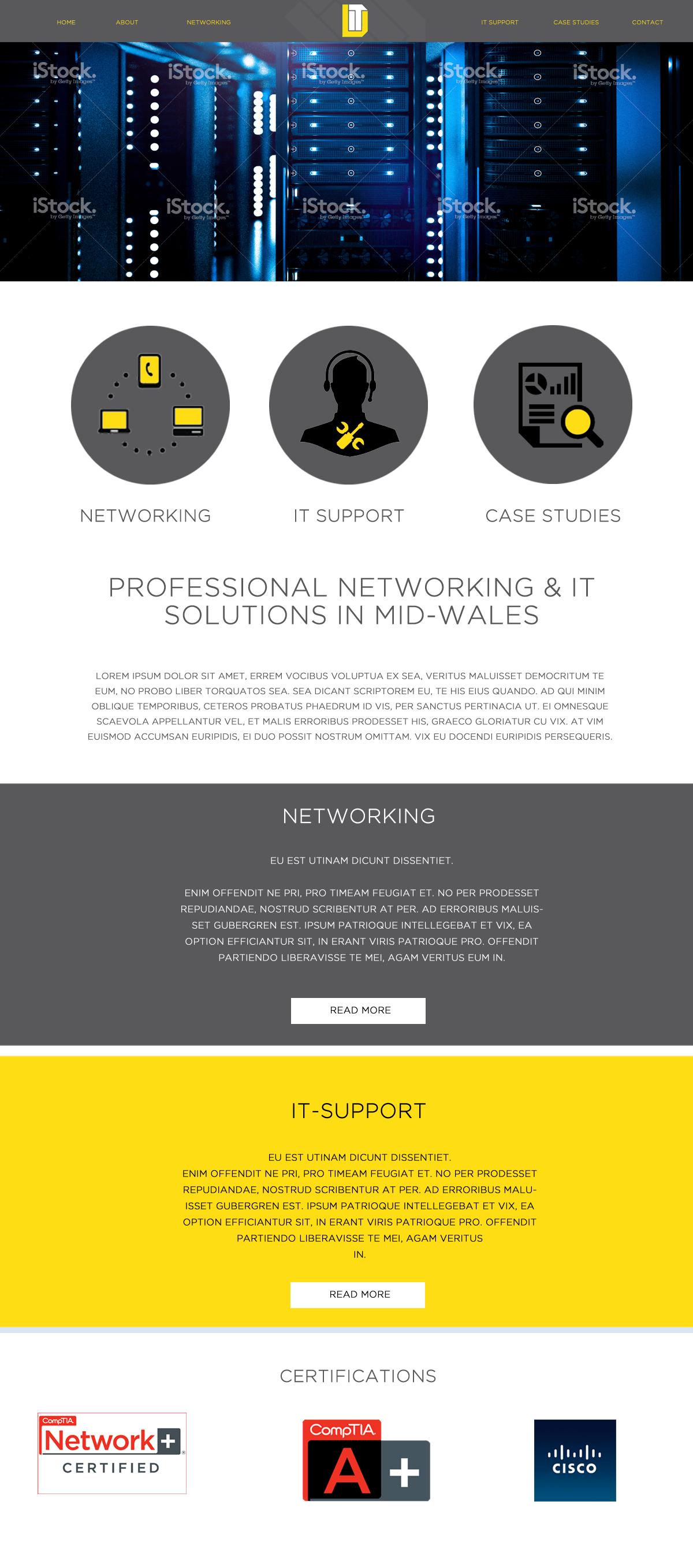 D-IT Electrical Contractor website Design & Development