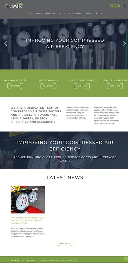 RM-Air Website Design & Development