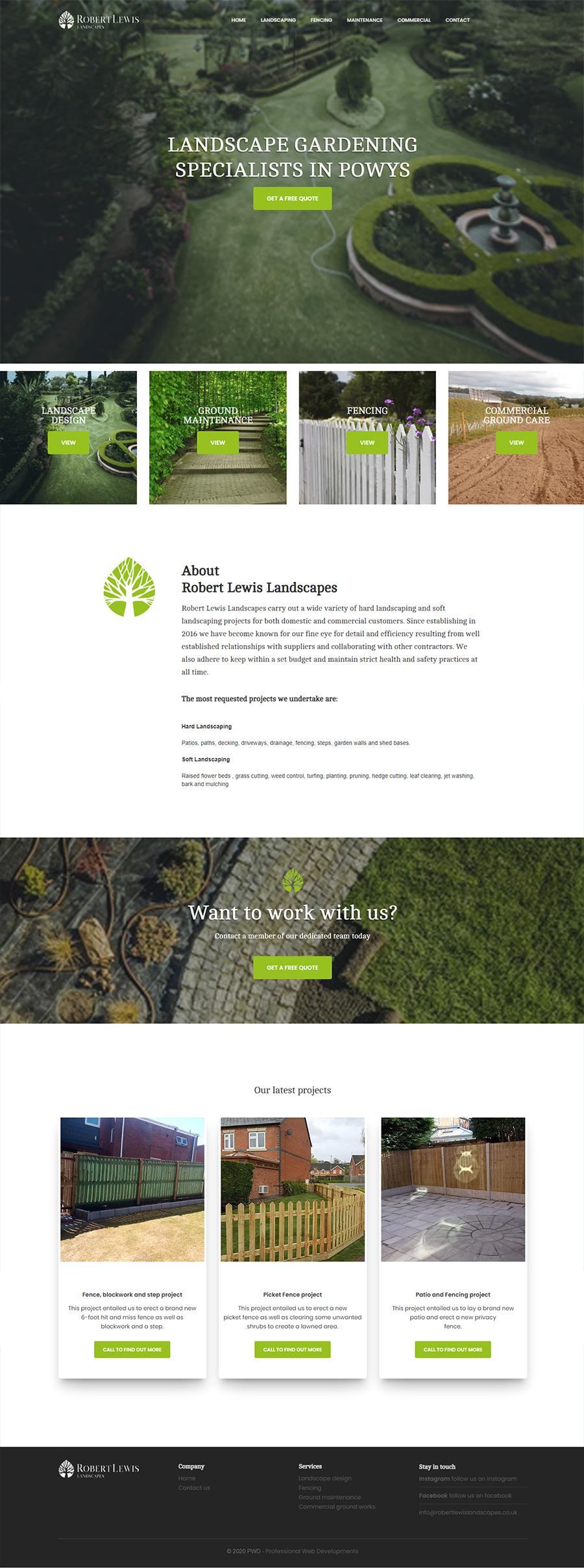 robert lewis landscapes Website Design & Development